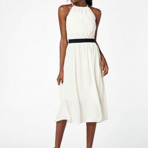 JustFab Chiffon Midi Dress In White